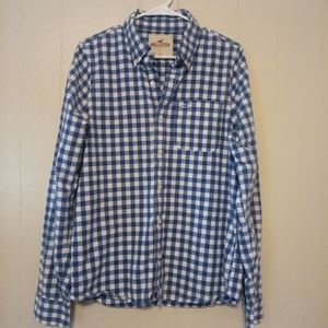 Hollister long-sleeve button-up size large
